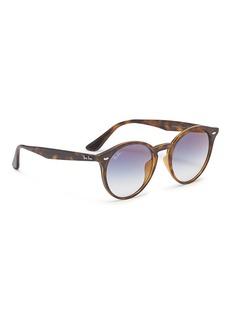 Ray-Ban 'RB2180F' tortoiseshell acetate round sunglasses