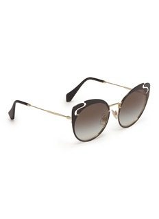 miu miu Cutout metal cat eye sunglasses