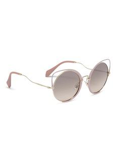 miu miu Cutout metal cat eye sunglasses