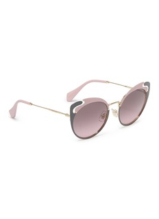 miu miu Cutout browline metal cat eye sunglasses