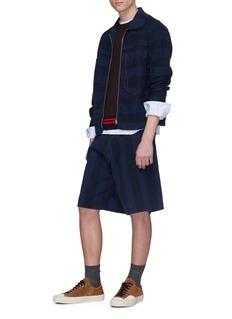 Marni Contrast stripe sleeve wool-cotton sweater