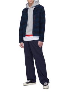 Marni Contrast topstitching stripe denim jacket