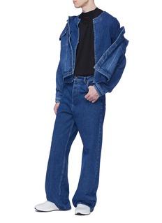 Y/Project 中性款双重衣袖及衣领品牌名称刺绣纯棉T恤