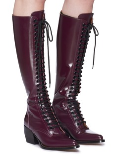 Chloé 'Rylee' lace-up knee high leather boots