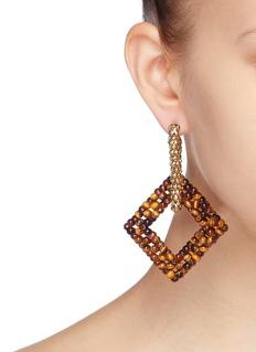 Rosantica 'Carrarmato' beaded square drop earrings
