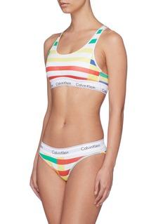 Calvin Klein Underwear Logo band stripe racerback bralette