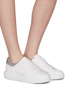 Pedder Red 'Louie' strass collar leather platform sneakers