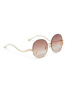 For Art's Sake 'Passion Fruit' faux pearl charm metal round sunglasses