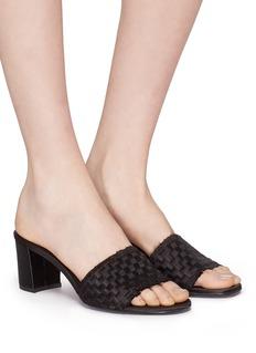 Pedro García 'Xian' basketweave satin sandals