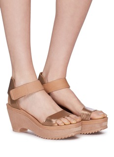 Pedro García 'Franses' suede leather wedge sandals