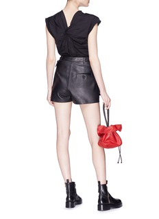 3.1 Phillip Lim Twist split back cap sleeve poplin top