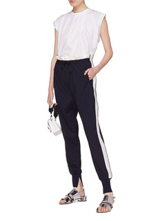 3.1 Phillip Lim Stripe outseam paperbag waist jogging pants