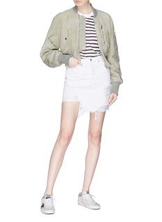 GRLFRND 'Rhoda' ripped denim skirt