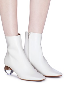 NEOUS 'Encyclia' sphere heel leather ankle boots