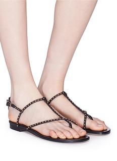 Pedder Red 'Cara' stud strap leather sandals