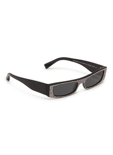 Alain Mikli Glass crystal acetate square sunglasses