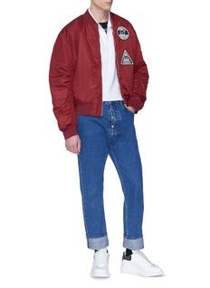 McQ Alexander McQueen Swallow skull appliqué polo shirt