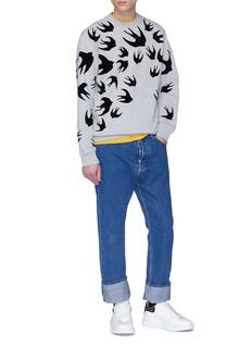MCQ ALEXANDER MCQUEEN Swallow Swarm植绒燕子图案混棉卫衣