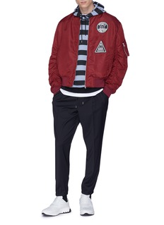 McQ Alexander McQueen Monster print stripe hoodie