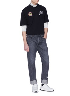 McQ Alexander McQueen Monster appliqué polo shirt