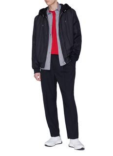 MCQ ALEXANDER MCQUEEN 褶裥设计初剪羊毛松紧长裤