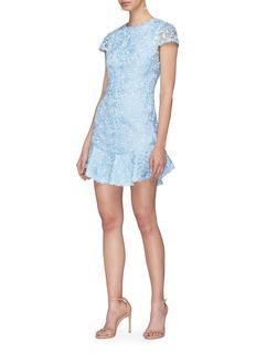 alice + olivia 'Rapunzel' guipure lace mini peplum dress