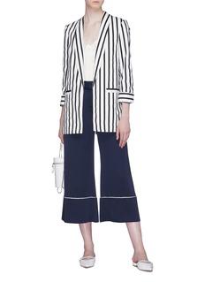 alice + olivia 'Kylie' shawl lapel stripe blazer