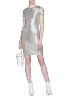 alice + olivia 'Delora' metallic T-shirt dress