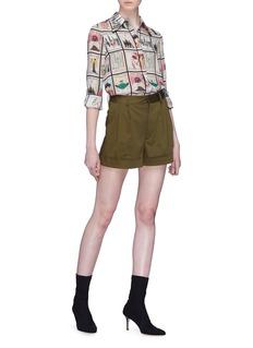 alice + olivia 'Conry' pleated shorts