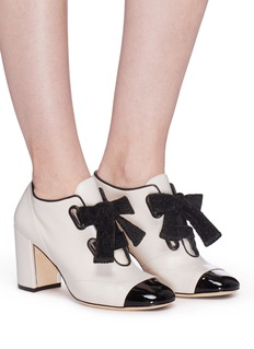 RODO Ribbon lace-up leather booties