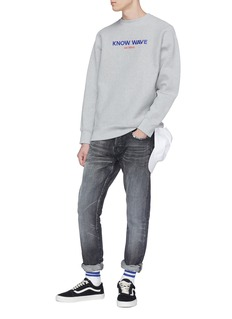 Know Wave 'Archival' logo embroidered sweatshirt