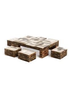 Piet Hein Eek Waste coffee cube and stool set