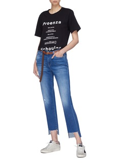 Proenza Schouler PSWL 'Care Label' logo print T-shirt