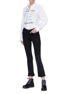 PROENZA SCHOULER PSWL Care Label品牌名称水洗标印花府绸衬衫