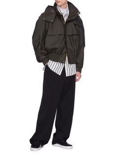 Feng Chen Wang Patchwork stripe shirt