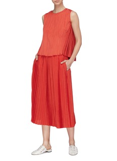 Vince Pleated crepe top