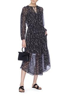 Vince Brushstroke print silk crepe dress