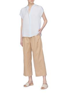 Vince Split back silk georgette sleeveless shirt