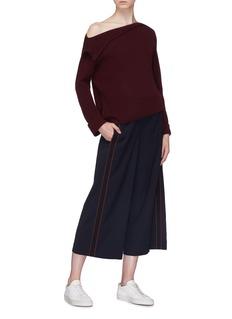Vince Foldover panel one-shoulder cashmere sweater