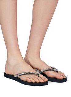 Uzurii 'Classic' crystal thong sandals