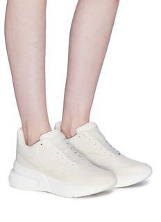 Alexander McQueen Oversized outsole leather sneakers