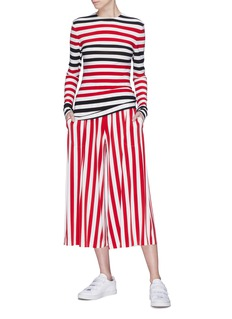 Norma Kamali 'Boyfriend Elephant' stripe culottes