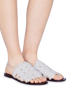 Pedder Red 'Garry' woven leather slide sandals