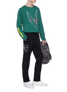 Rochambeau x Aaron Curry graffiti print twill pants