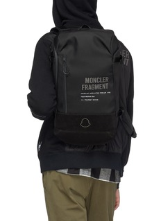 Moncler Genius x Fragment Hiroshi Fujiwara reflective logo print backpack