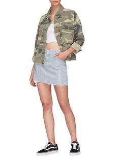 Topshop Strass embellished denim skirt