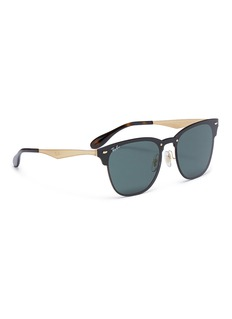 Ray-Ban 'Blaze Clubmaster' metal square sunglasses