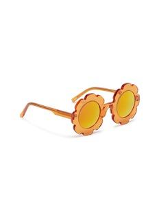 Sons+Daughters Eyewear 'Pixie' flower frame mirror acetate kids sunglasses