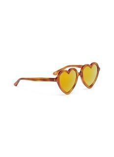 Sons+Daughters Eyewear 'Lola' heart frame mirror acetate kids sunglasses