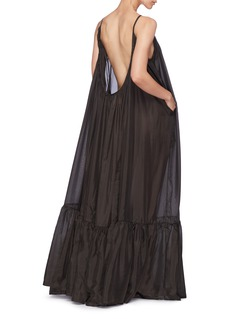 Kalita 'Brigitte' ruched hem silk maxi dress